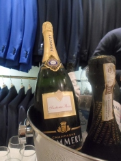 Champagne per gli ospiti
