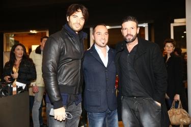 L'organizzatore della serata Cristiano de Masi con Giulio Berruti e Vincent Candela