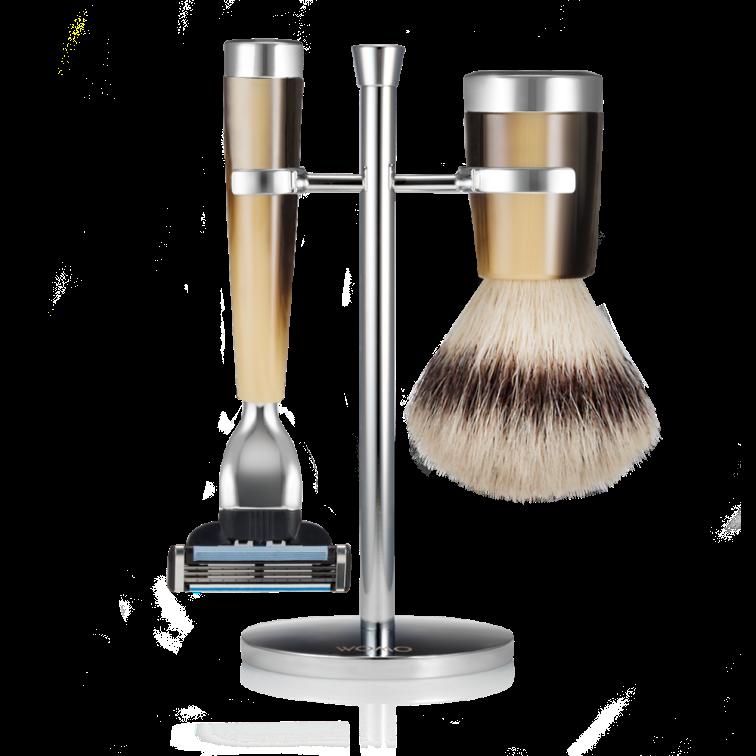 set-rasatura-resina-corno-fibra-sintetica-argento-mach3