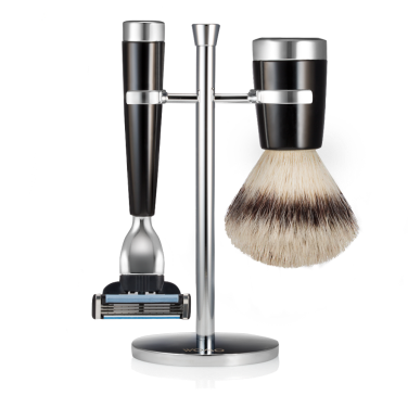 set-rasatura-resina-nera-fibra-sintetica-argento-mach3