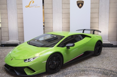 MILAN, ITALY - JUNE 16: Atmosphere during Collezione Automobili Lamborghini SS 19 Presentation at Milan Men's Fashion Week 2018 on June 16, 2018 in Milan, Italy. (Photo by Stefania M. D'Alessandro/Getty Images for Lamborghini)