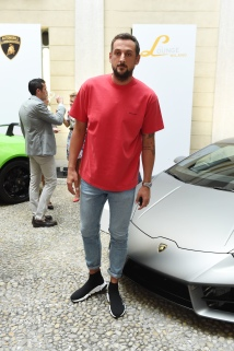 MILAN, ITALY - JUNE 16: Marco Belinelli attends Collezione Automobili Lamborghini SS 19 Presentation at Milan Men's Fashion Week 2018 on June 16, 2018 in Milan, Italy. (Photo by Stefania M. D'Alessandro/Getty Images for Lamborghini)