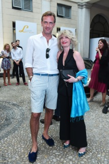 MILAN, ITALY - JUNE 16: Guglielmo Miani and Katia Bassi attend Collezione Automobili Lamborghini SS 19 Presentation at Milan Men's Fashion Week 2018 on June 16, 2018 in Milan, Italy. (Photo by Stefania M. D'Alessandro/Getty Images for Lamborghini) *** Local Caption *** Guglielmo Miani;Katia Bassi