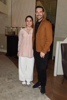 MILAN, ITALY - JUNE 16: Stefania Vismara and Luca Lucini attend Collezione Automobili Lamborghini SS 19 Presentation at Milan Men's Fashion Week 2018 on June 16, 2018 in Milan, Italy. (Photo by Stefania M. D'Alessandro/Getty Images for Lamborghini) *** Local Caption *** Stefania Vismara;Luca Lucini