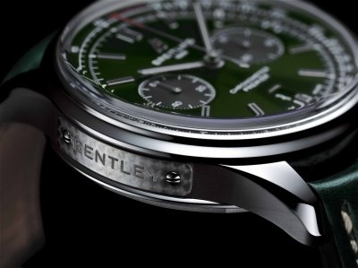Premier B01 Chronograph 42 Bentley British Racing Green with a British racing green leather strap (PPR/Breitling)